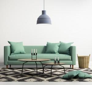 Green contemporary modern sofa